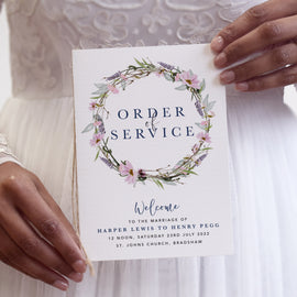 'Whisper Wreath' Wedding Order of Service