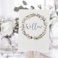 Load image into Gallery viewer, Wedding Table Name Cards for rustic weddings