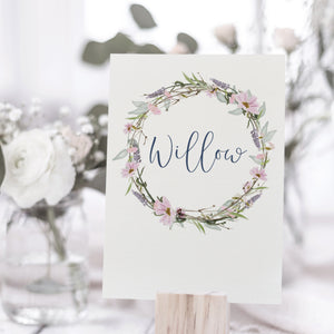 Whisper Table Name Cards