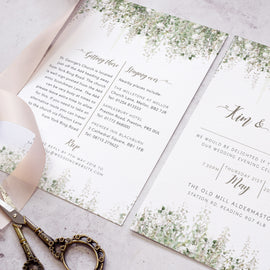Whimsical windsor wedding invites for an evening reception