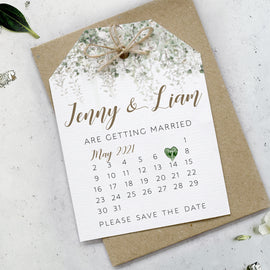 Whimsical windsor Wedding calendar save the date cards