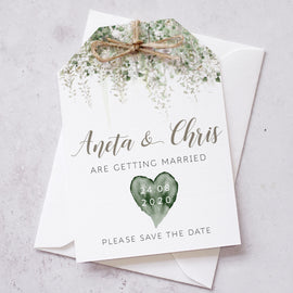 'Whimsical Windsor' Personalised Wedding Save the Date Cards