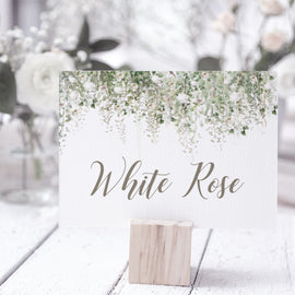 'Whimsical Windsor' Personalised Wedding Table Name cards