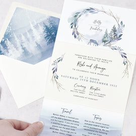 Christmas wedding invites from our Winter Wedding collection