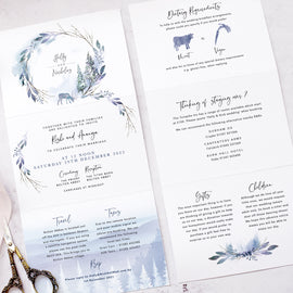 wedding details card from our Winter Wedding Stationery collection
