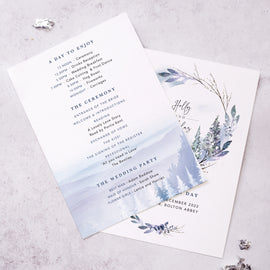 Order of the Day for a winter wedding