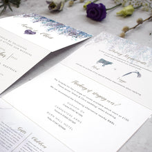 Load image into Gallery viewer, Whimsical Winter Concertina Invitation