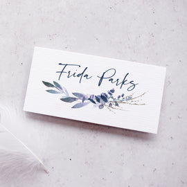 winter wedding place card