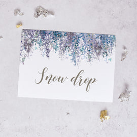 'Whimsical Winter' Winter Wedding Table Name Cards