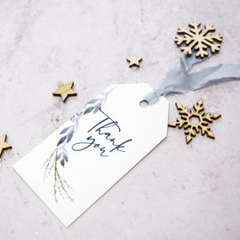 winter wedding favour tags
