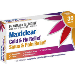MAXICLEAR Sinus & Pain Relief 30s