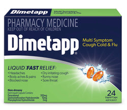 DIMETAPP MS Cough Cold Flu 24s