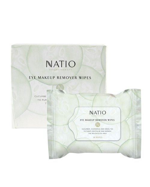 NATIO Eye Make Up Remover Wipes 30's
