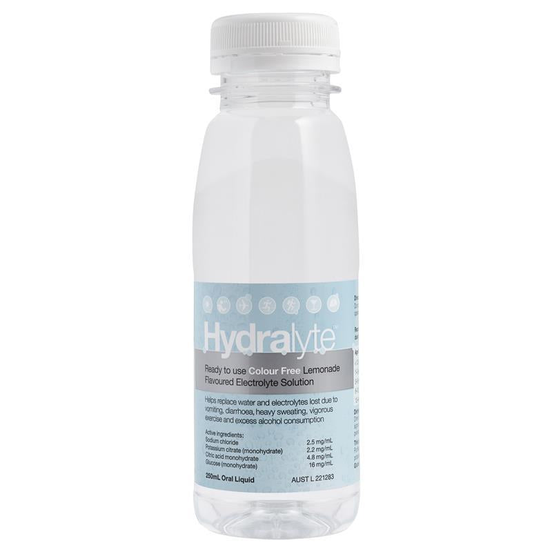 Hydralyte Liquid Colour Free Lemonade Flavoured  Solution 250ml