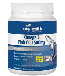 Good Health Omega 3 Fish Oil 1500mg 400caps