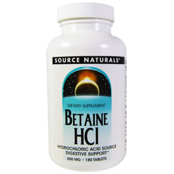Source Naturals Betaine HCL 650mg 90caps