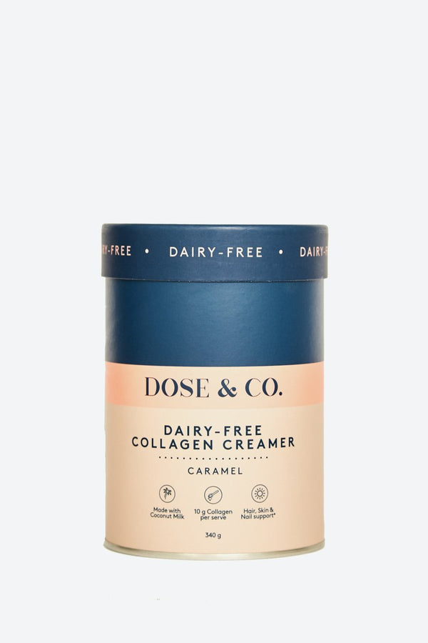 Dose & Co Dairy Free Collagen Creamer Caramel 340g