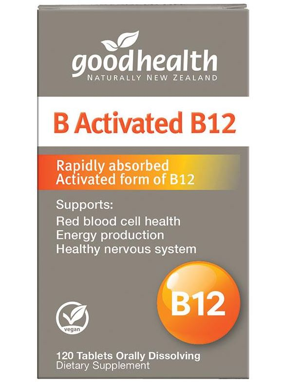 Good Health B Activated B12 120 Capsules