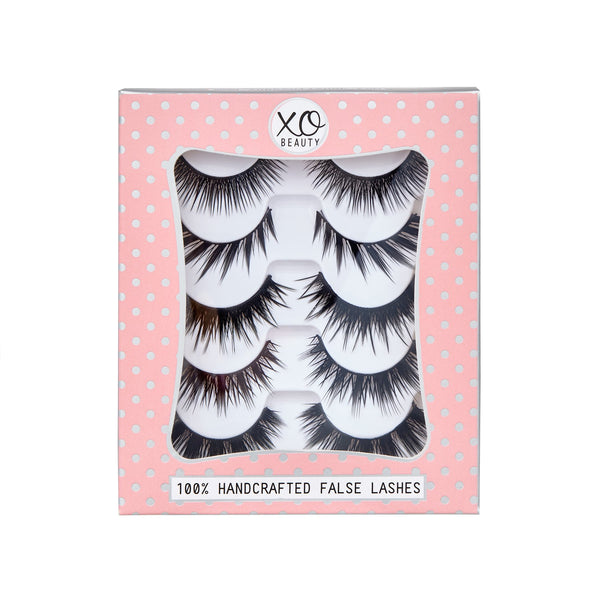 xoBeauty False Lashes Party Stack 5pk