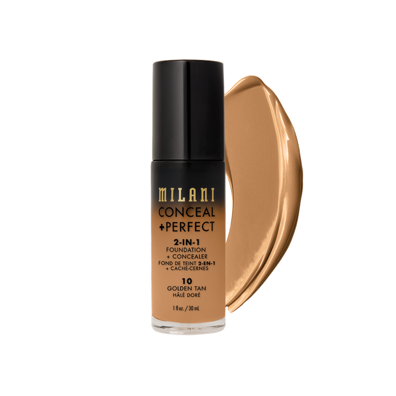 MILANI MPCF-010 Conceal +Perfect Liquid Foundation Golden Tan