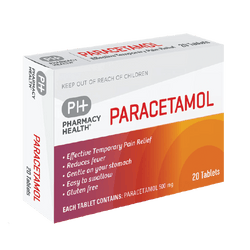 Pharmacy Health Paracetamol 20 tablets