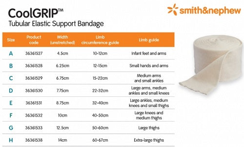 Smith & Nephew COOLGRIP Tubular Support 7.75cmx1m (Size D)