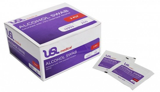 USL Med. Alcohol Swab 70% Box200