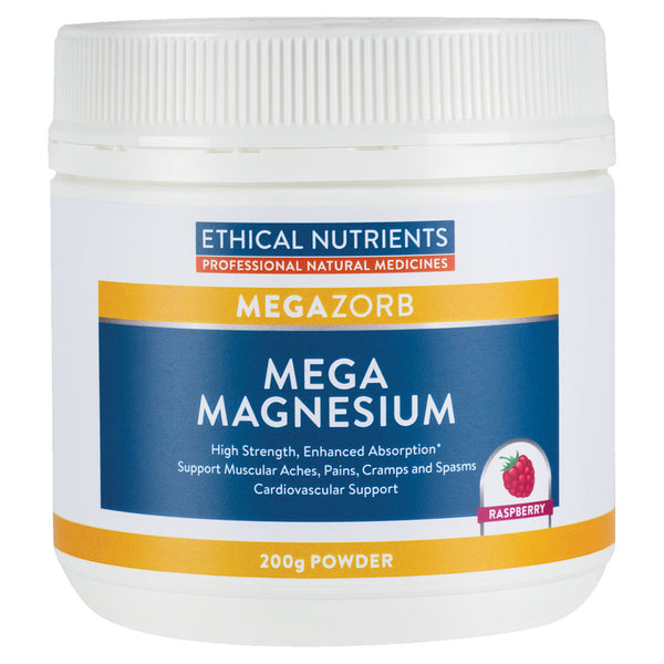 Ethical Nutrients Mega Magnesium Powder Raspberry 200g