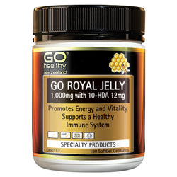 GO Royal Jelly 1000mg 180 S/Gel Cap