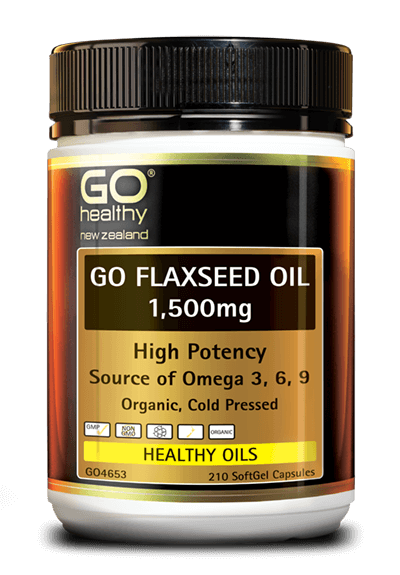 GO Flaxseed Oil 1500mg Org. 210caps