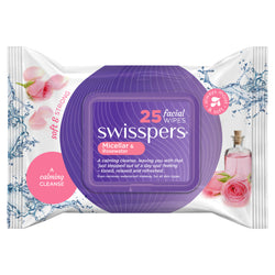 SWISSPERS Facial Wipes Micellar & Rose Water 25