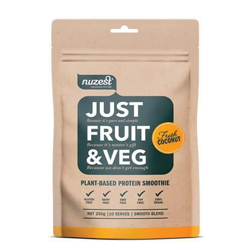 Nuzest Just Fruit & Veg Pouch 250g - Fresh Coconut