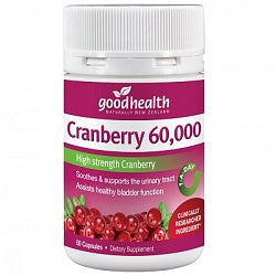 GOOD HEALTH Cranberry 60000mg 50 Capsules