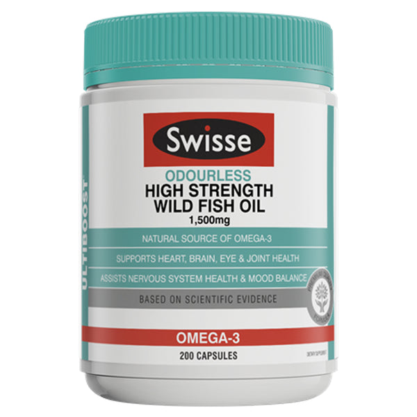 SWISSE UB Wild Fish Oil 1500mg 200