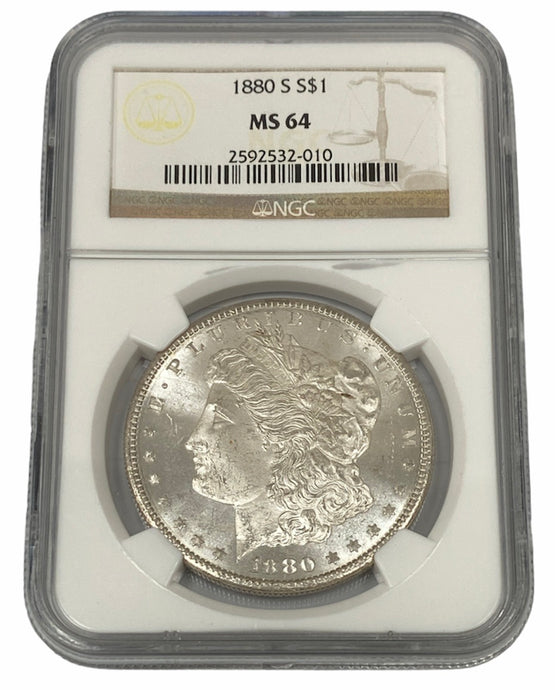 1880 S $1 NGC MS 64 Morgan Silver Dollar