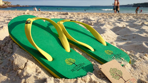 Give Away Green And Gold Thongs