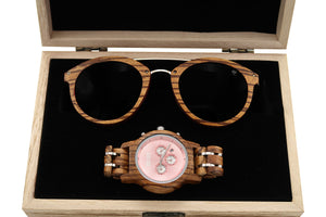 Wood Watch + Sunglass - Trend + Bloom