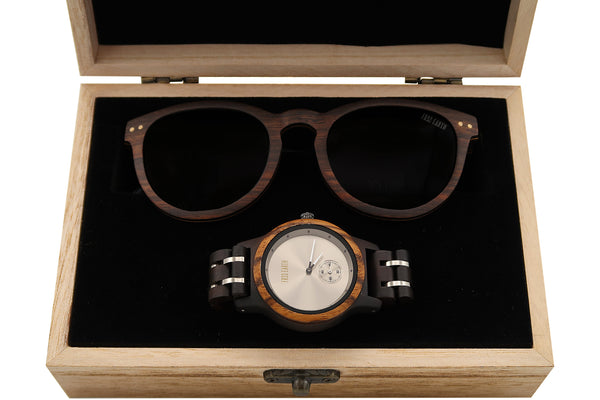 Wood Watch + Sunglass - Santa Monica + Finite