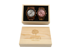 Couple Wood Watches Light + Bloom