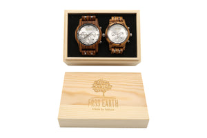 Couple Wood Watches Horizon + Light