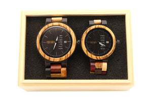 Couple Wood Watches Jazz Men + Women