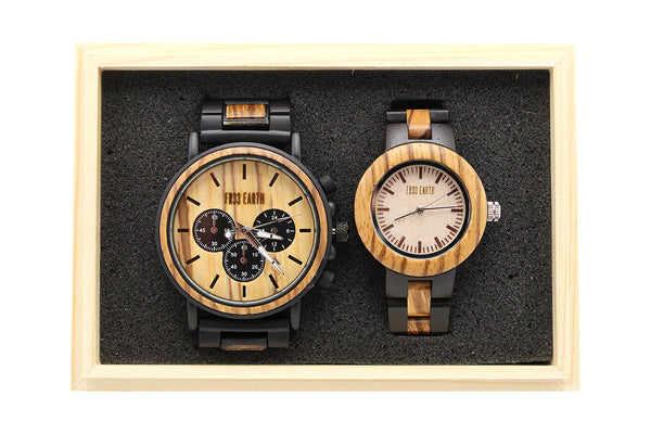 Couple Wood Watches Edge + LaForet