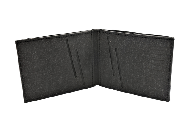 Mens Vegan  Wallet (Stone Black )