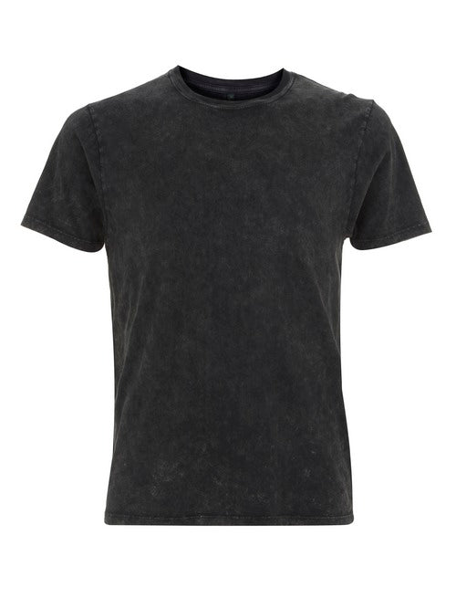 MENS ORGANIC COTTON T SHIRT(ACID BLACK)