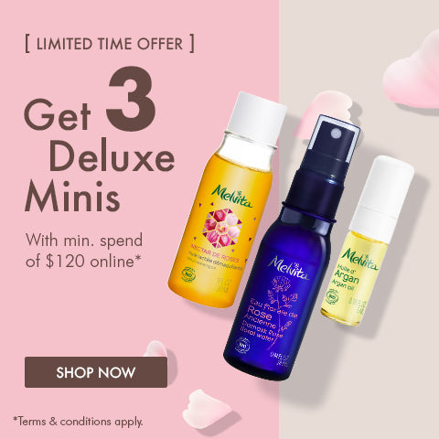 3 Free Deluxe Minis with $120 spend