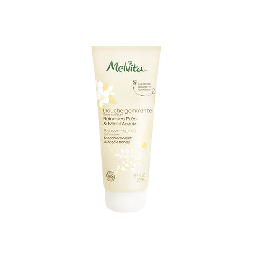 Melvita Organic Body Care Clean Beauty Meadowsweet & Acacia Honey Shower Scrub