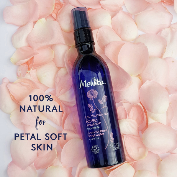 Melvita Face Care Organic Rose Floral Water 100% Natural for Petal Soft Skin