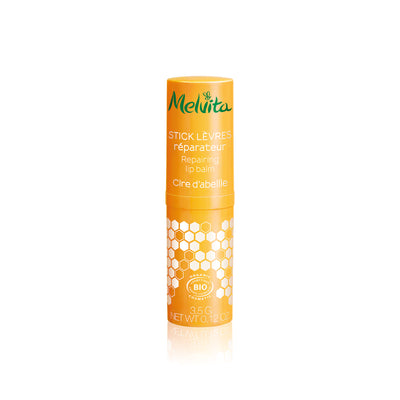 Melvita Singapore Clean Organic Beauty Nectar De Miels Repairing Lip Balm with closed cap