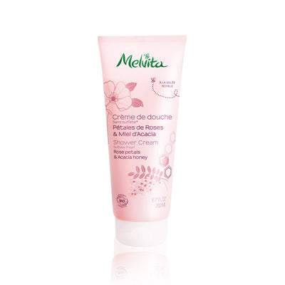 Melvita Body Care Rose Petals & Acacia Honey Shower Cream