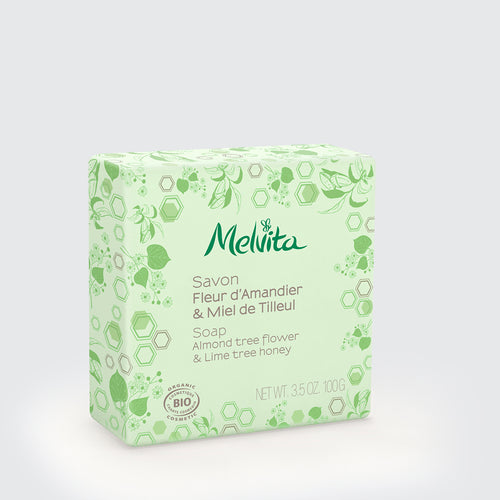 Melvita Singapore Organic Clean Beauty Soap Lime Tree Almond
